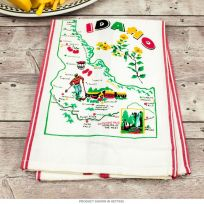 Idaho Map Cotton Kitchen Dish Towel