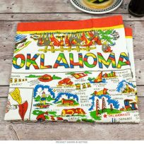 Oklahoma Map Flour Sack Cotton Kitchen Towel