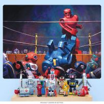 Roc Sock Robot Boxing Bellows Style Wall Decal