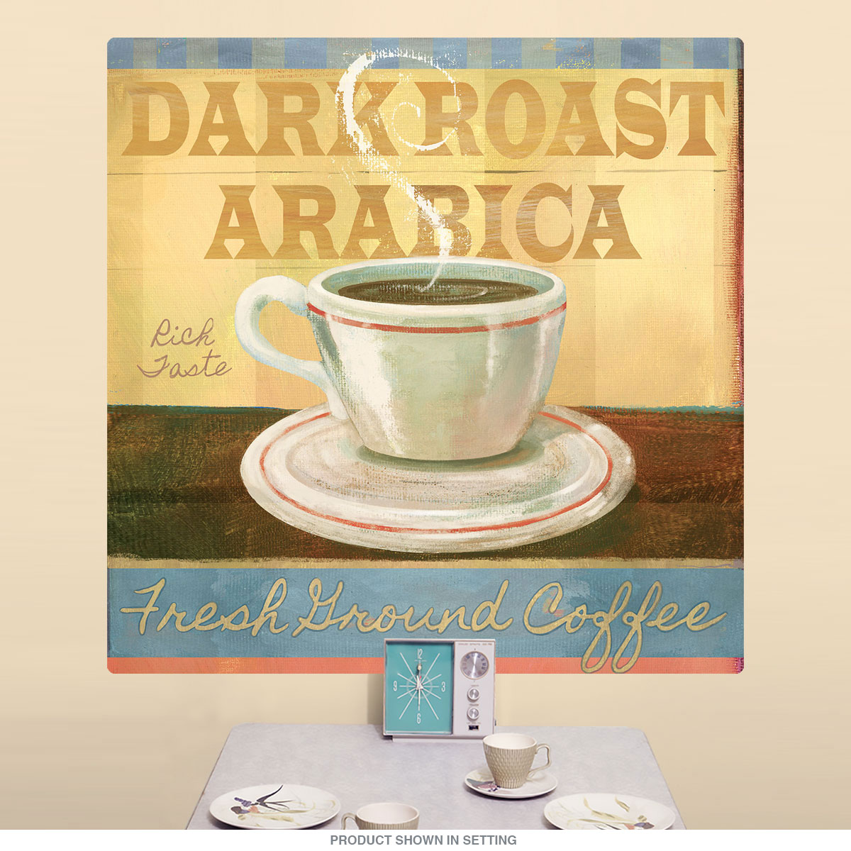 Dark Roast Arabica Coffee Collage Wall Decal | Coffee Shop Decor ...