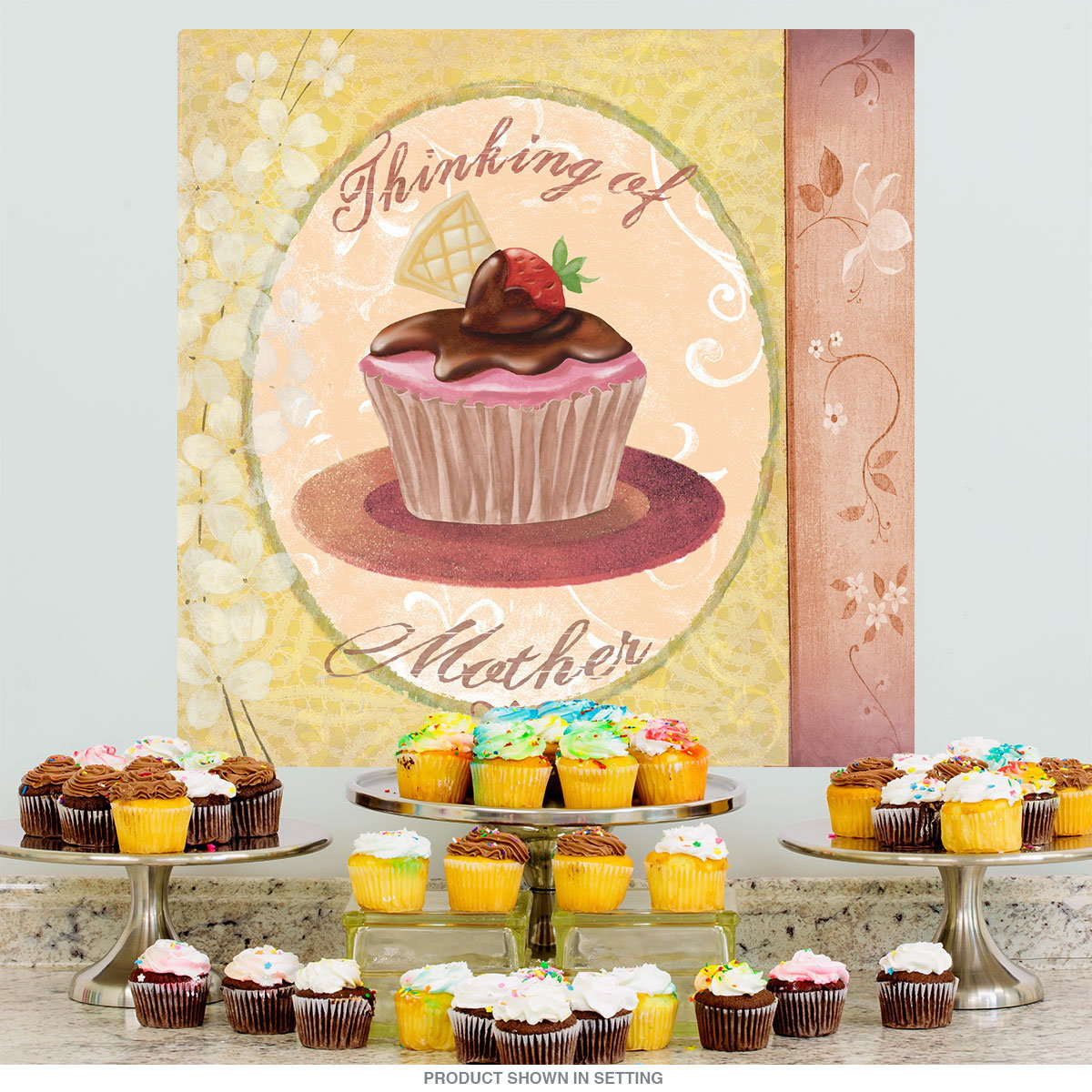 Cupcake Mothers Day Party Wall Decal | Celebration Decoration Ideas ...