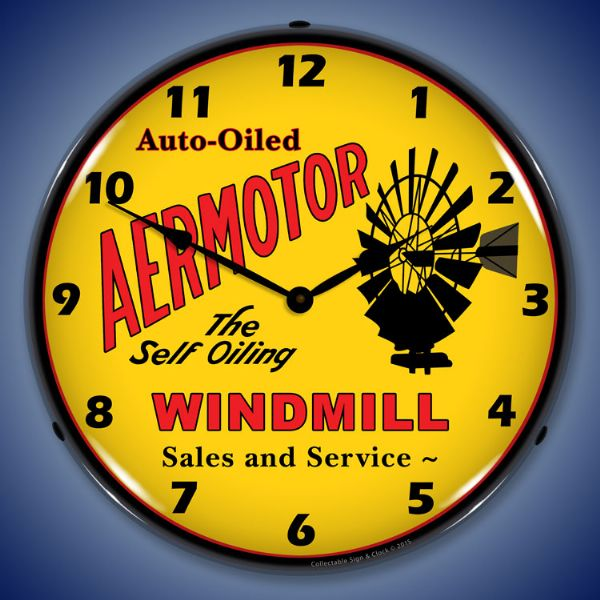 Aermotor windmill light up wall clock garage decor retroplanet aermotor windmill light up wall clock aloadofball Image collections