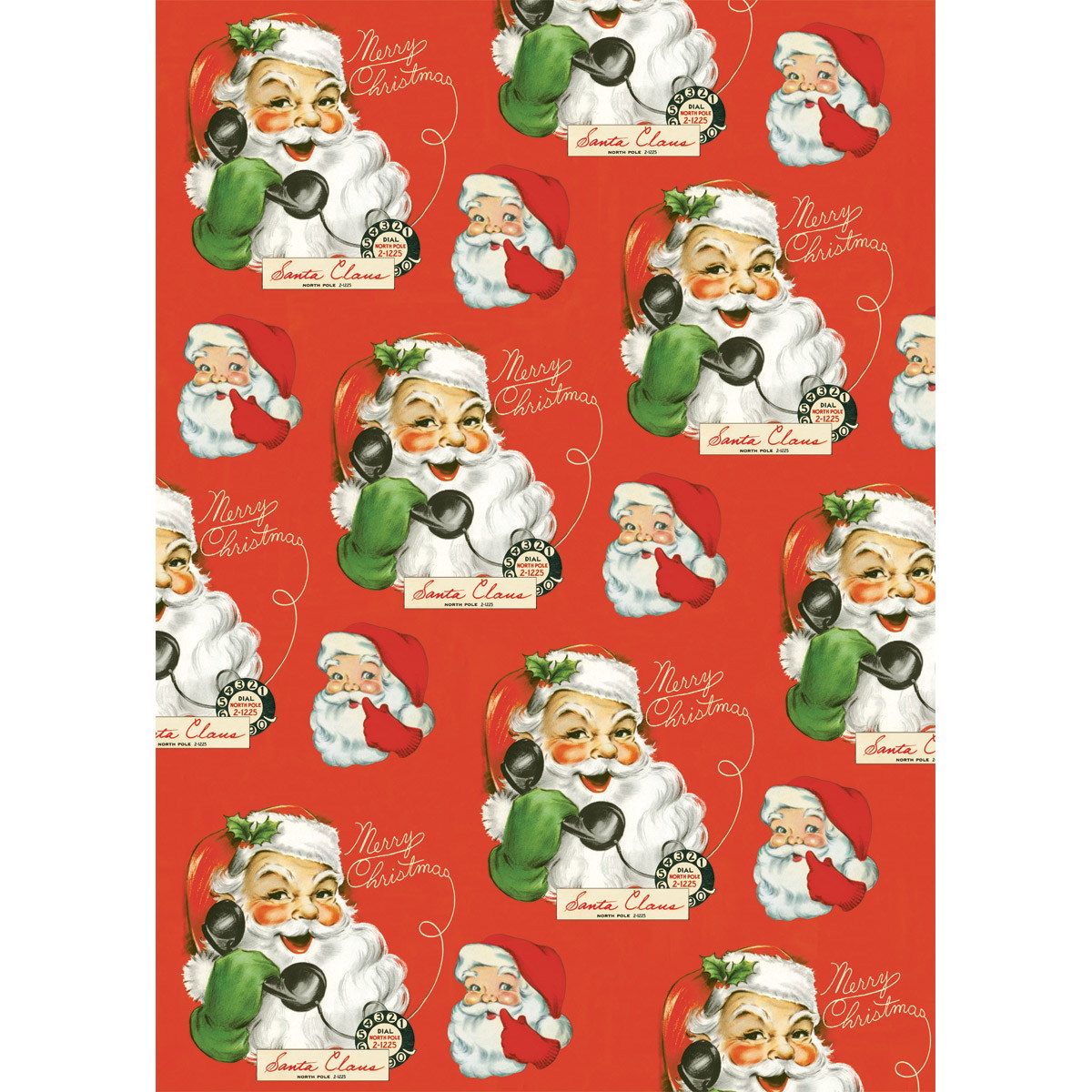 Hello Santa Christmas Wrapping Paper Sheet