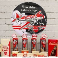 Coca-Cola Thirst Takes Wings DC-3 Airplane Tin Sign