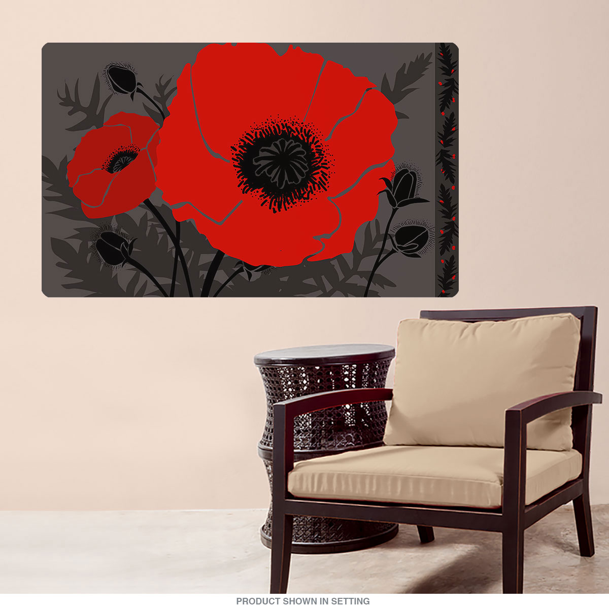 Beautes Rouges Little Big Flower Wall Decal Floral Decor
