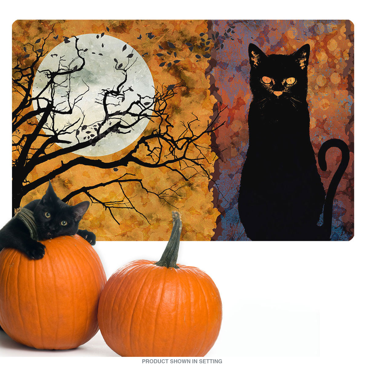 Image Black Cat Full Moon All Hallows Eve Wall Decal