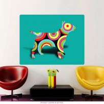 Bull Terrier Dog Dots Pop Art Wall Decal