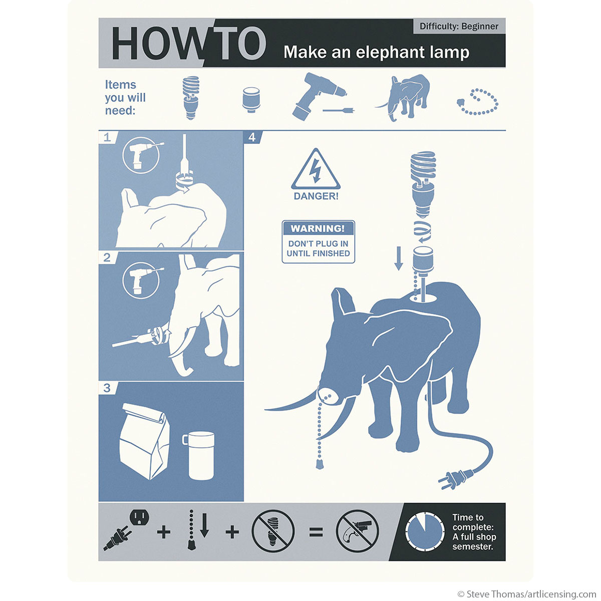 How to elephant lamp breakfast club wall decal movie decor how to elephant lamp breakfast club wall decal movie decor retroplanet amipublicfo Gallery