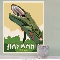 Hayward WI Muskie Fishing Museum Wall Decal