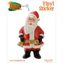 Santa Claus with Bell Christmas Vinyl Sticker