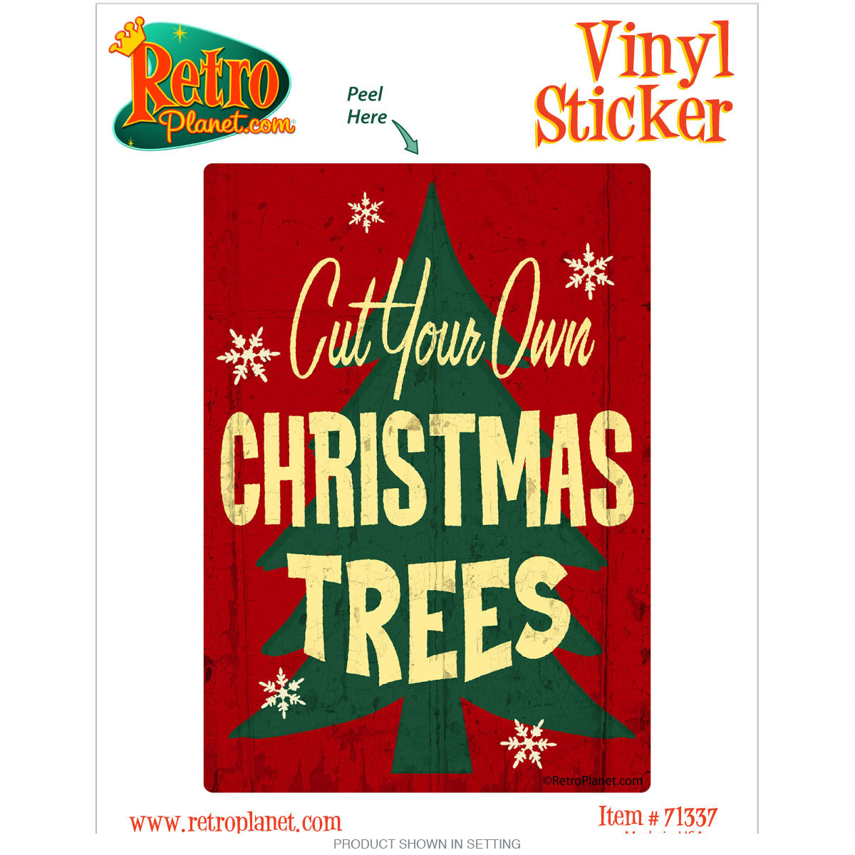 cut your own christmas trees vinyl sticker zoom - Cut Your Own Christmas Tree