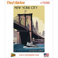 New York City Brooklyn Boat Vinyl Sticker