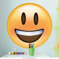 Emoji Smiling Face Open Mouth Wall Decal