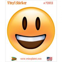 Emoji Smiling Face Open Mouth Vinyl Sticker
