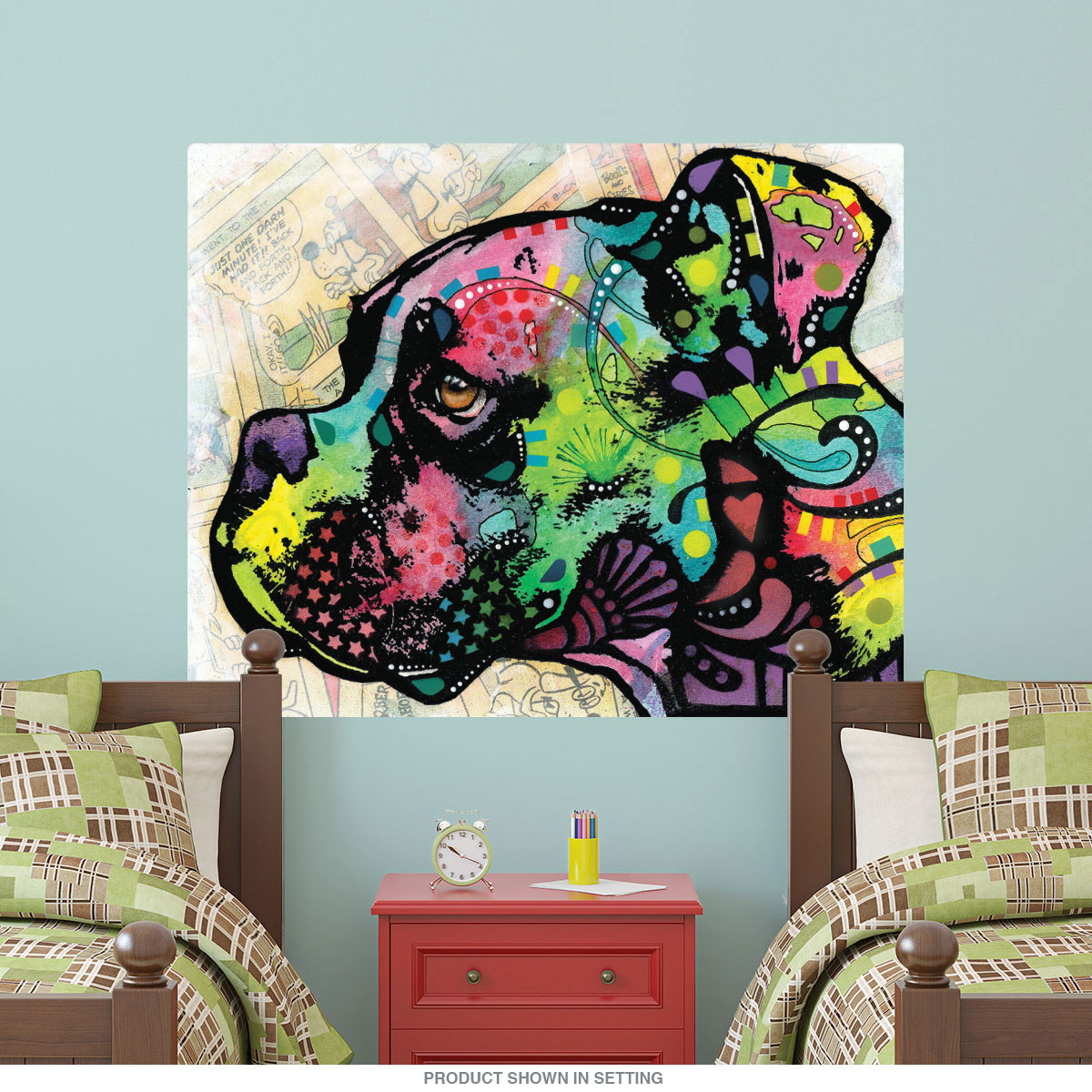Boxer Dog Profile Dean Russo Dog Wall Decal | Pop Art Wall Decor ...