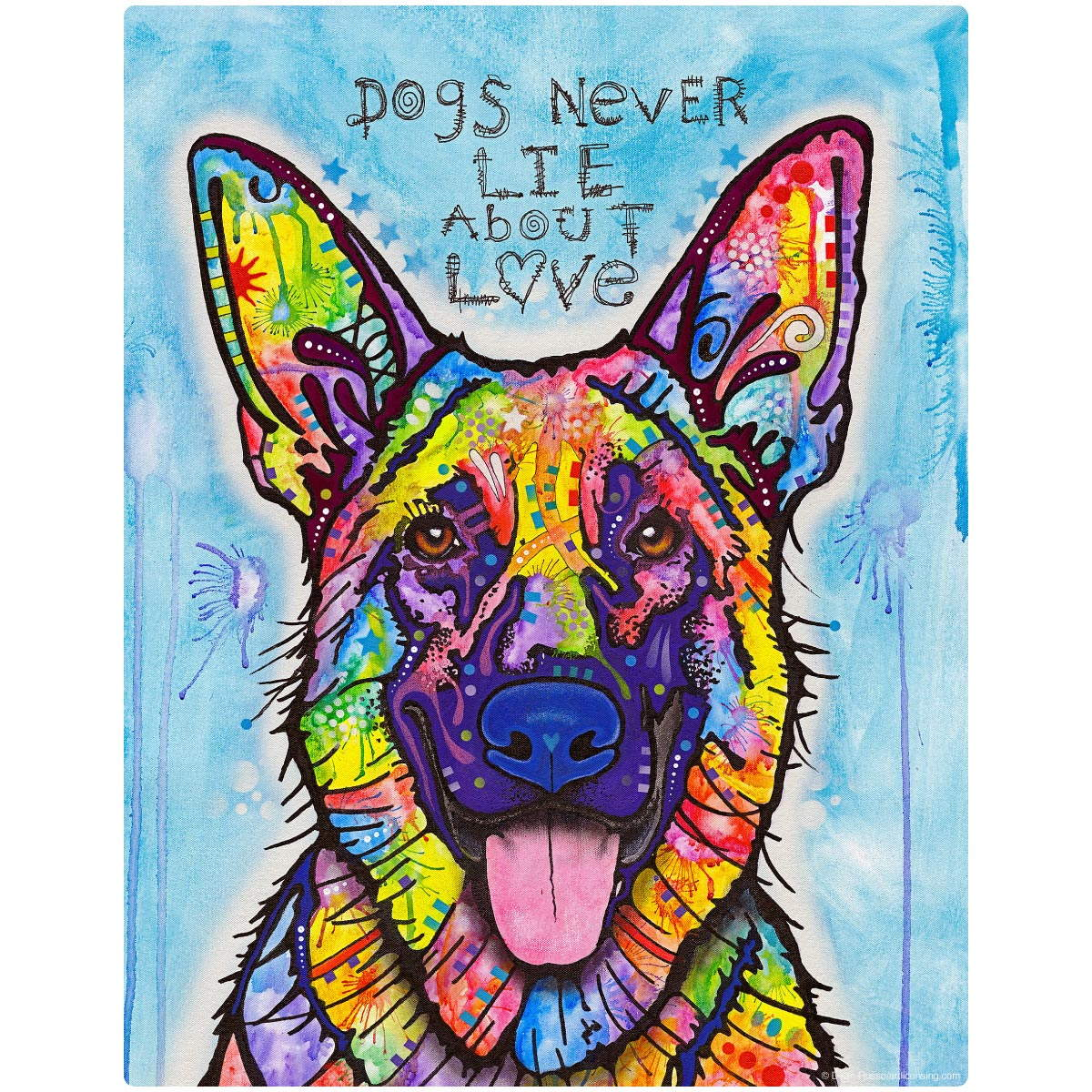 German Shepherd Dean Russo Dog Wall Decal Hover To Zoom