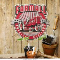 Farmall American Heritage Tractor Embossed Tin Sign