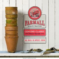 Farmall Tractors 3-Piece Embossed Tin Sign