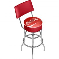 Coca-Cola Classic Logo Bar Stool with Back