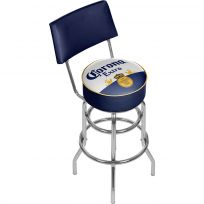 Corona Extra Beer Label Bar Stool with Back