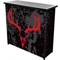 Hunting Deer Skull Portable Metal Bar Table