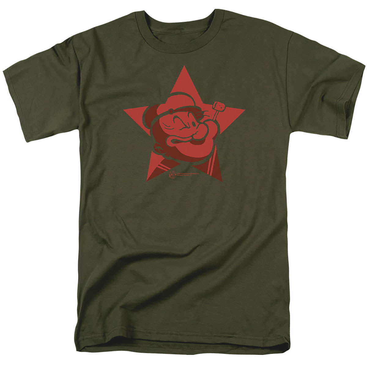Popeye Red Star Face T-Shirt