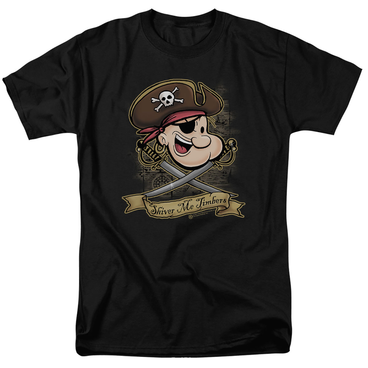 Popeye Shiver Me Timbers Pirate T-Shirt