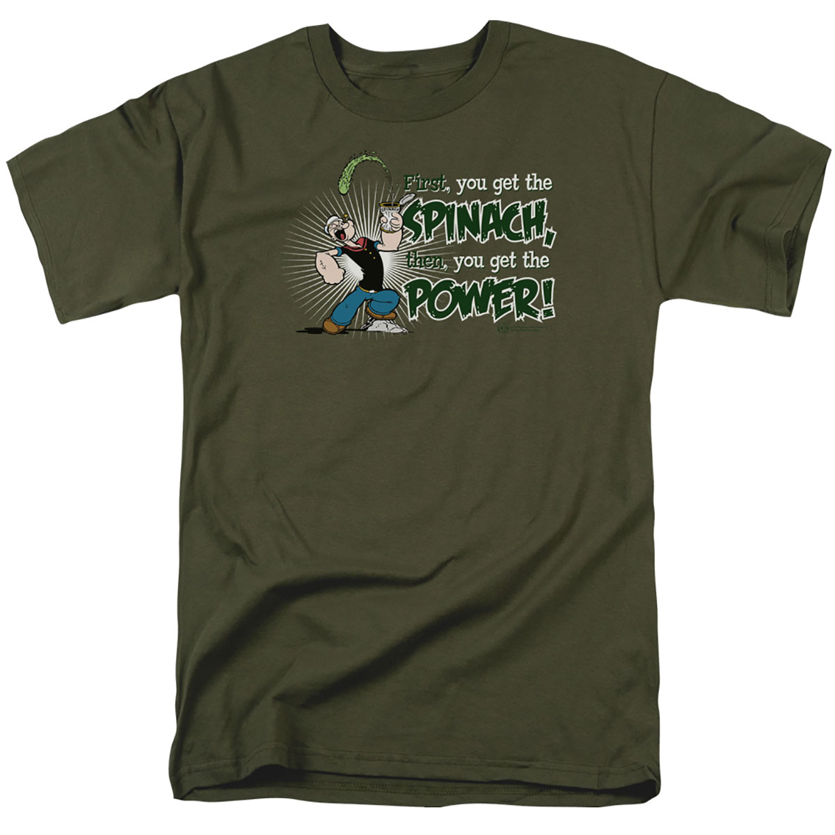 Popeye First Spinach Then Power T-Shirt