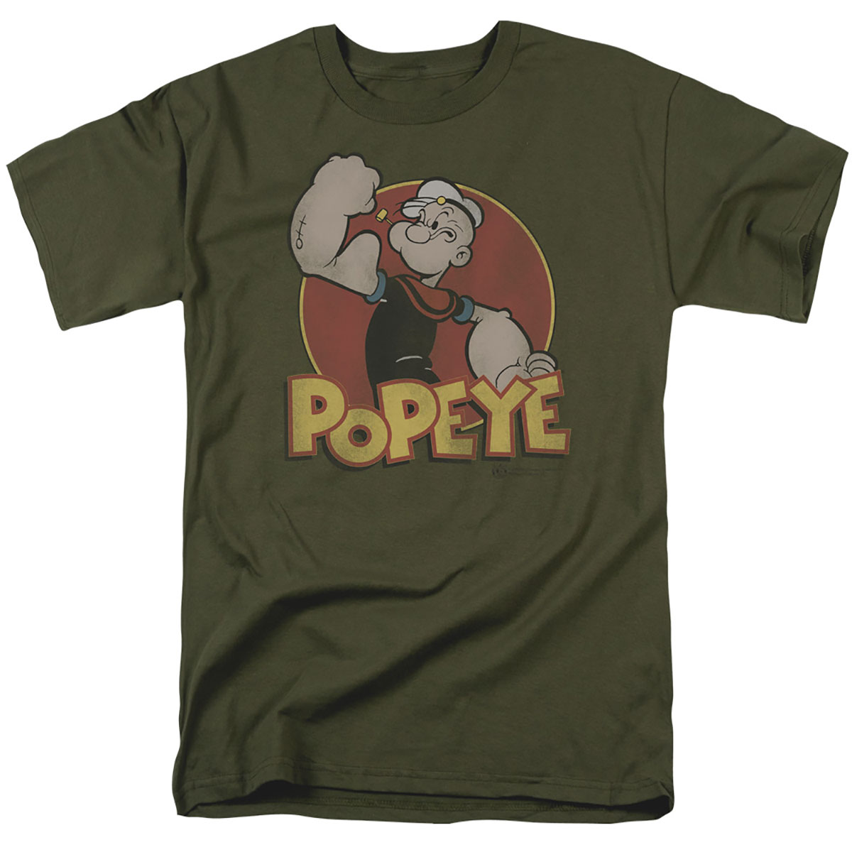 Popeye Classic Color Ring Logo Green T-Shirt