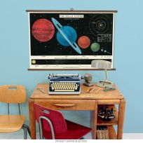 Solar System Astronomy Vintage Style School Chart