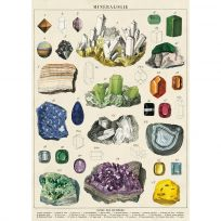 Mineralogy French Science Vintage Style Poster