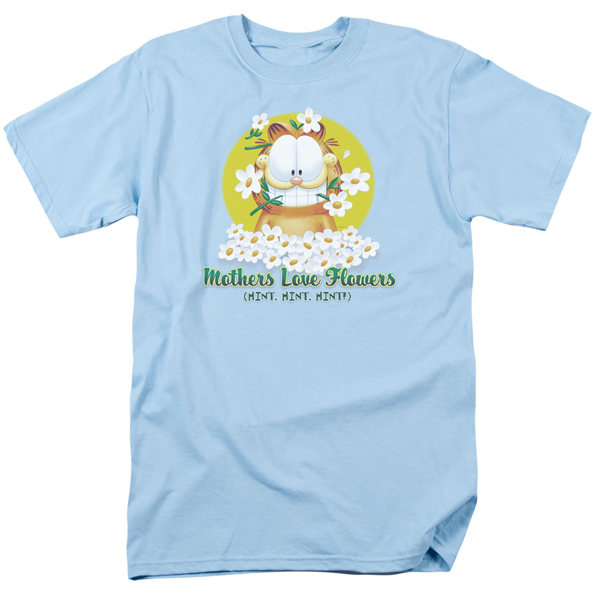 Image Garfield Mothers Day Love Flowers T-Shirt