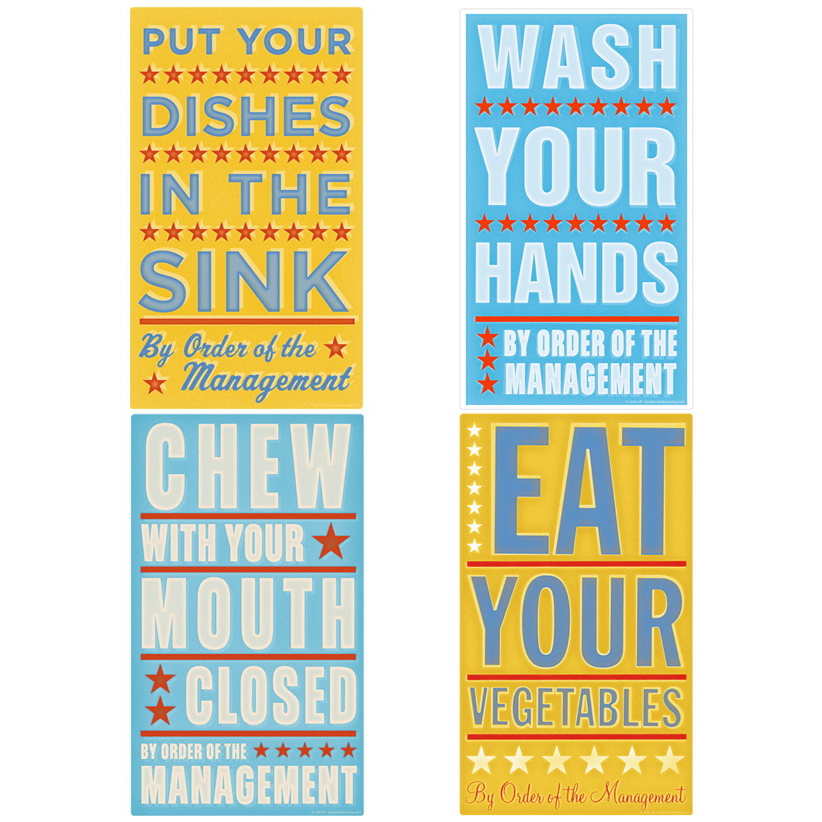 Kitchen Rules Kids Room Kitchen Wall Decal Set | Wall Decor ...