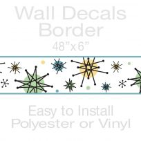 Atomic Starburst Decorative Wall Decal Border