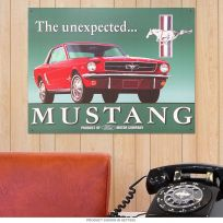 Ford Mustang Unexpected Garage Muscle Car Metal Sign