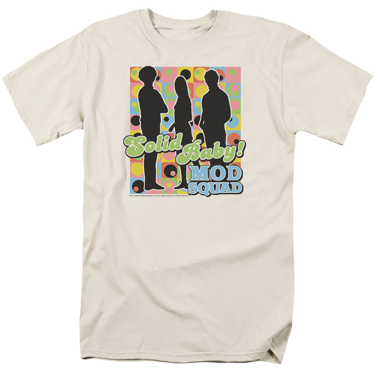 1960s – 70s Mens Shirts- Disco Shirts, Hippie Shirts Mod Squad Solid Baby Mod Pattern T-Shirt $25.99 AT vintagedancer.com