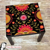 Folkloric Flower Pattern IKEA LACK Table Graphic