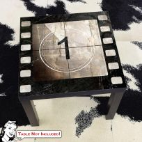 Movie Film Reel Countdown 1 IKEA LACK Table Graphic