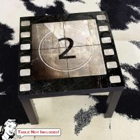 Movie Film Reel Countdown 2 IKEA LACK Table Graphic