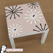 50s Atomic Starburst Pattern IKEA LACK Table Graphic