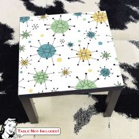 Atomic Starburst 50s Style IKEA Lack Table Graphic