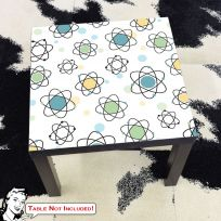 Atomic Symbols 50s Style IKEA Lack Table Graphic