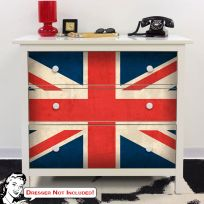 UK Flag Union Jack IKEA HEMNES Dresser Graphic