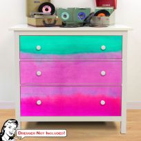 Gradients Blue Pink IKEA HEMNES Dresser Graphic