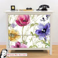 Summer Diary Flowers IKEA HEMNES Dresser Graphic