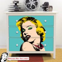 Marilyn Monroe Bold Pop Art IKEA HEMNES Dresser Graphic
