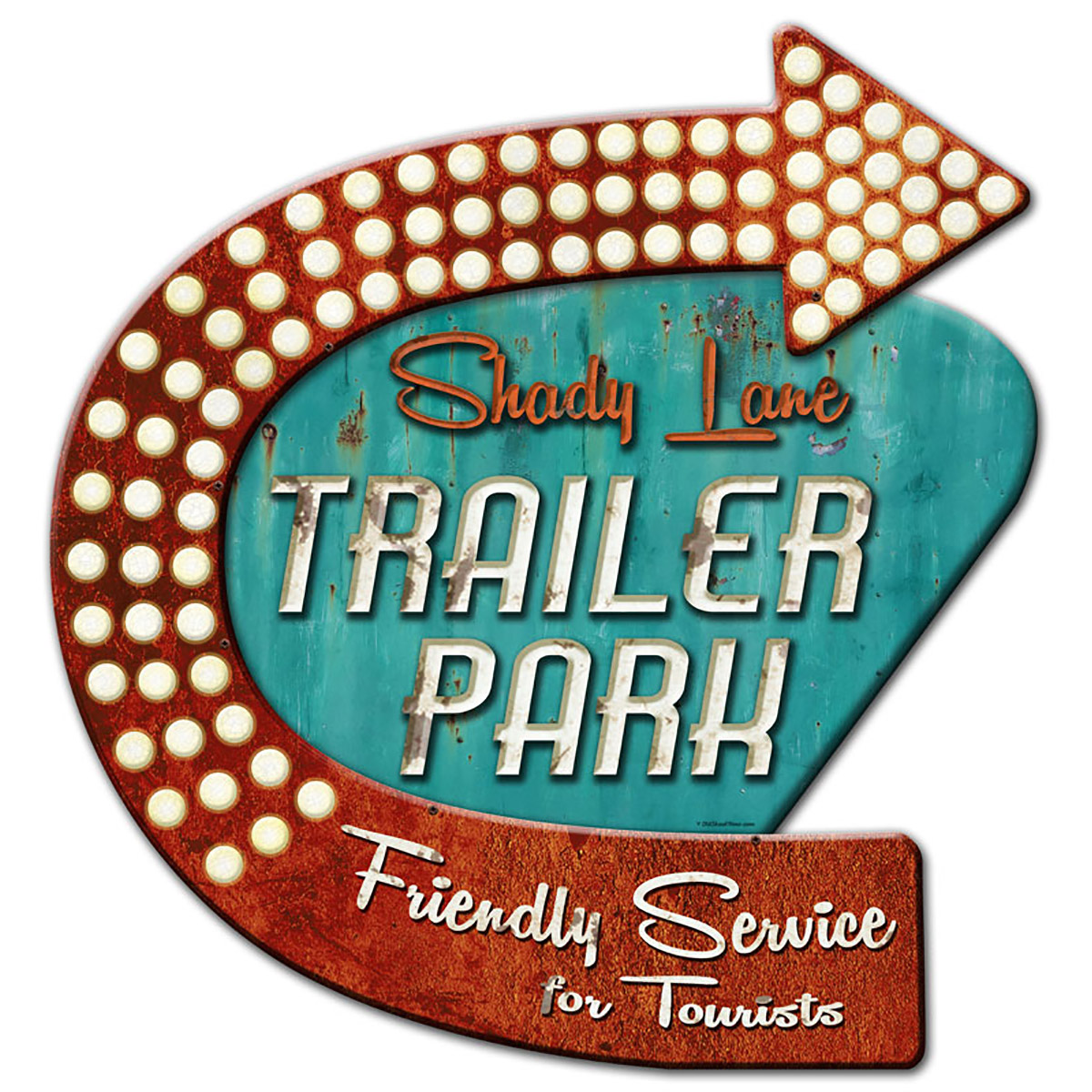 Shady Lane Trailer Park Metal Sign 3D Layered | Vintage Style Signs ...
