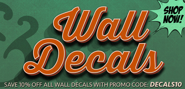 cb7bc96b4 10% Off Wall & Floor Decals - Promo Code: DECALS10 at RetroPlanet
