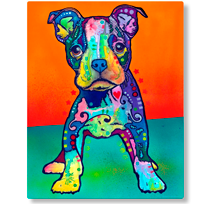 Pit Bull Dog Tongue Dean Russo Wall Decal