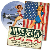 Pin Ups, Risque And Adult Humor Signs